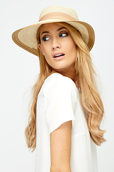 Bow Back Contrast Hat